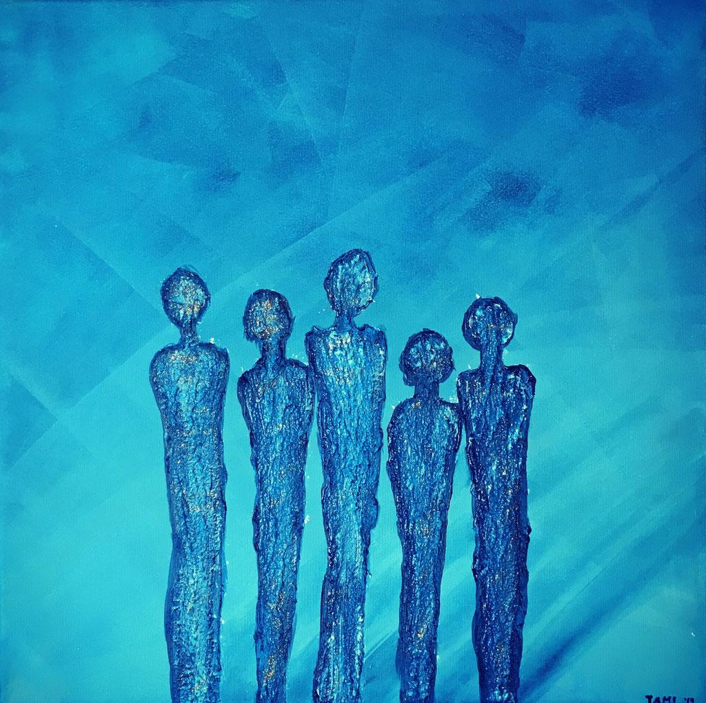Blue / 50x50 / Acryl-Strukturpaste