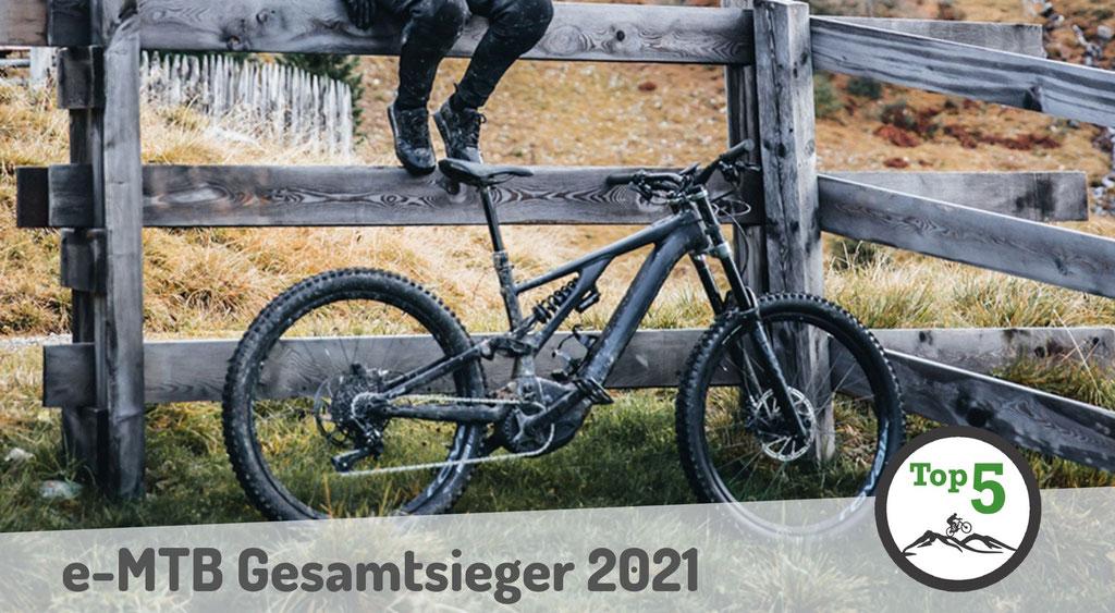 Die Gesamtsieger der besten e-Mountainbikes 2021