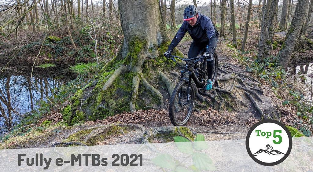 Die besten Fully e-Mountainbikes 2021.