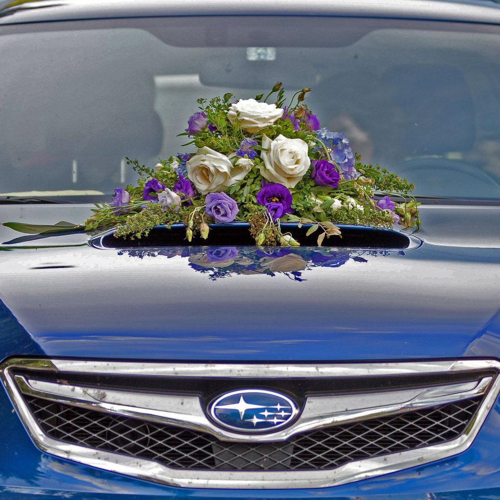 Blumen für Auto