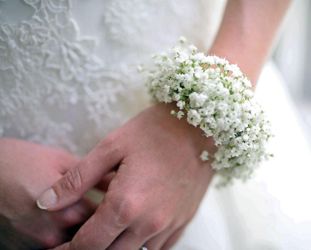 Hochzeit Blumen Arm