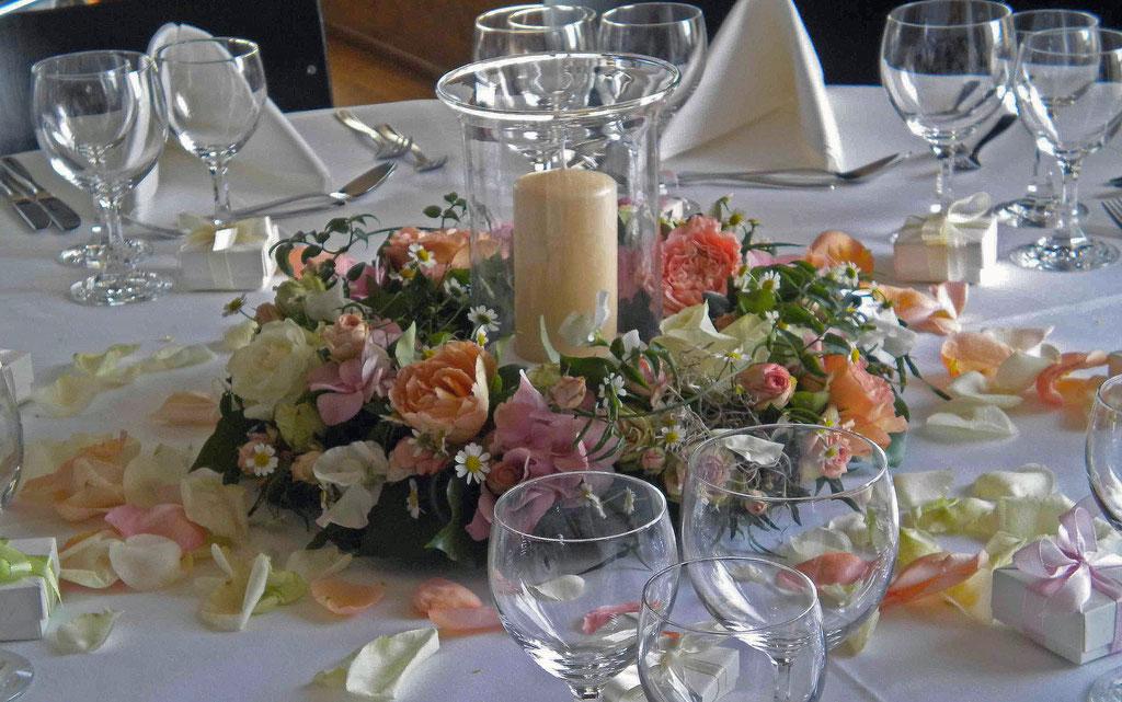 Blumen Essen Hochzeit