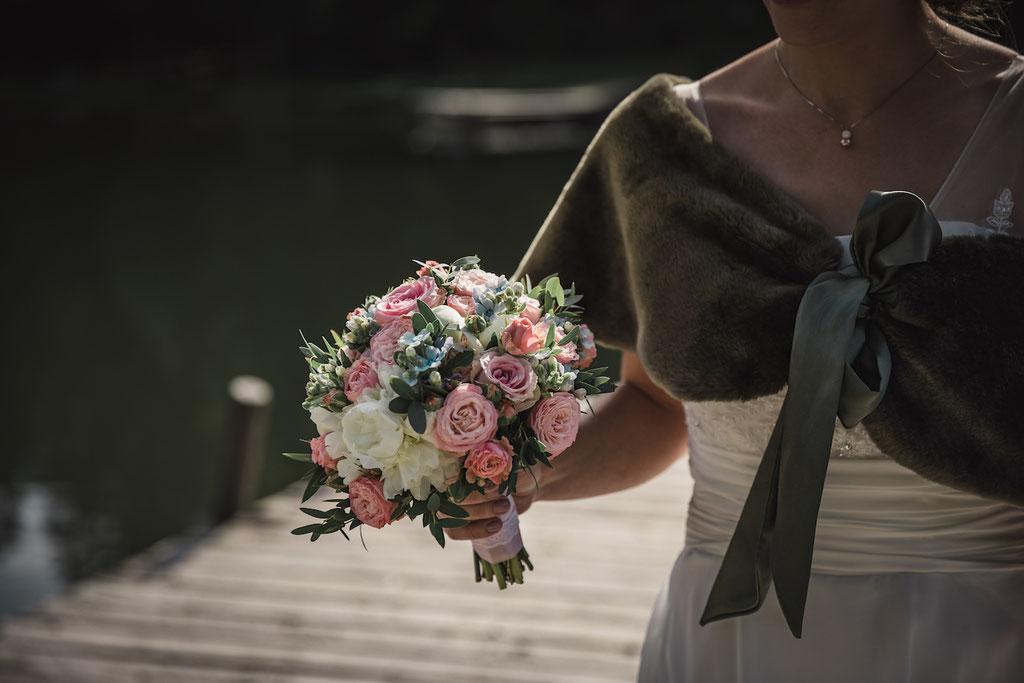 Hochzeit See Blumen