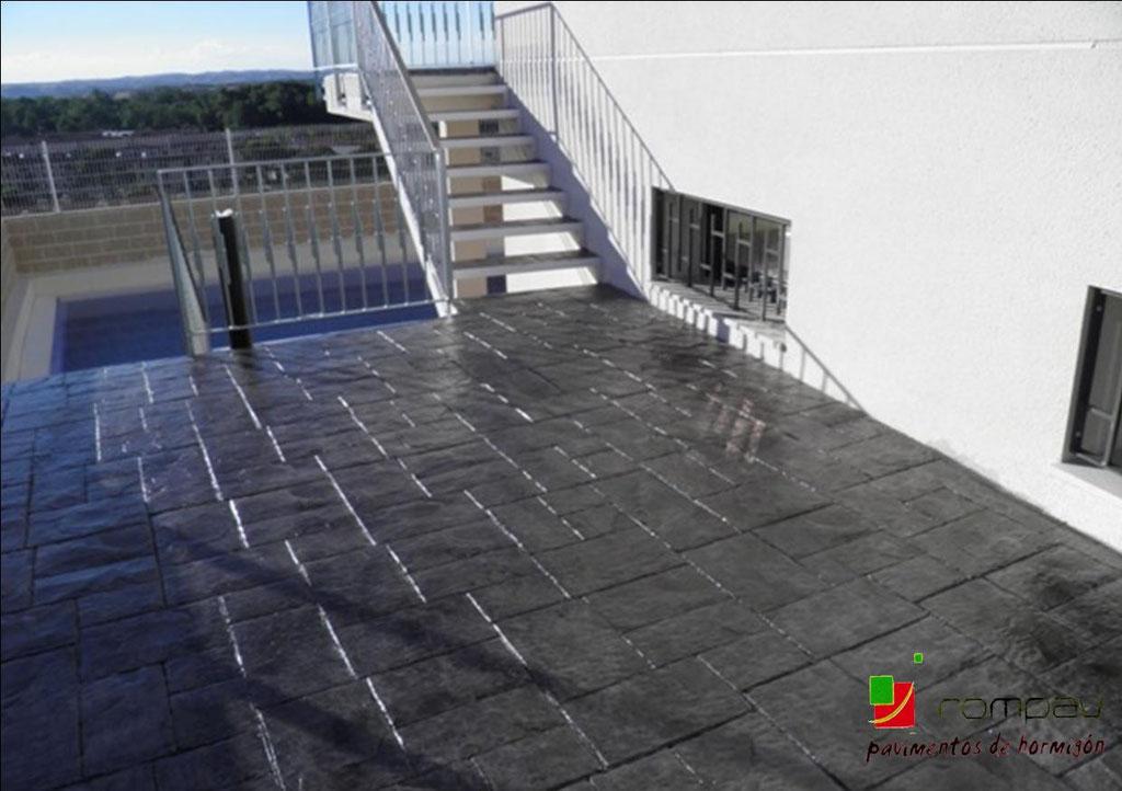 pavimentos de hormigon impreso escaleras madrid