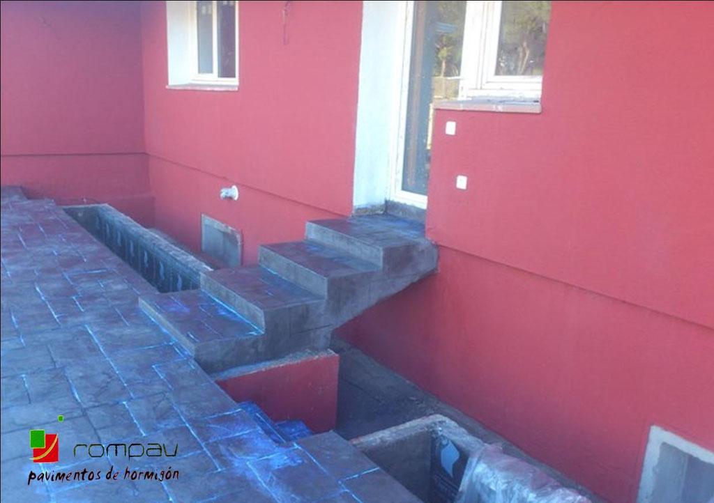 escaleras de hormigon impreso segovia