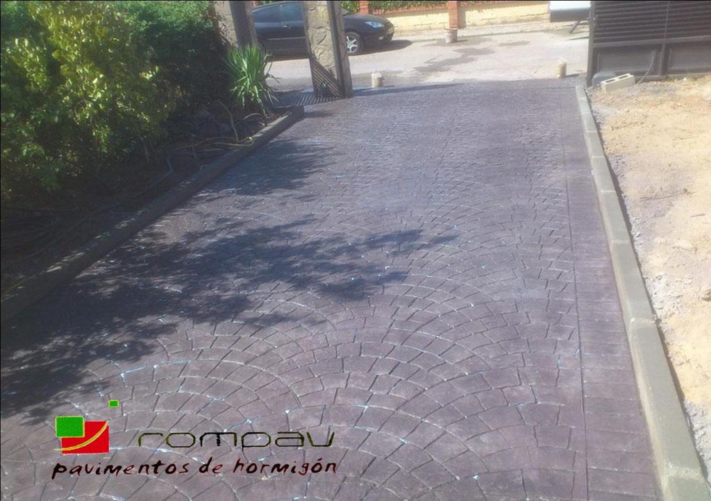 Hormigon impreso Parque de las Castillas