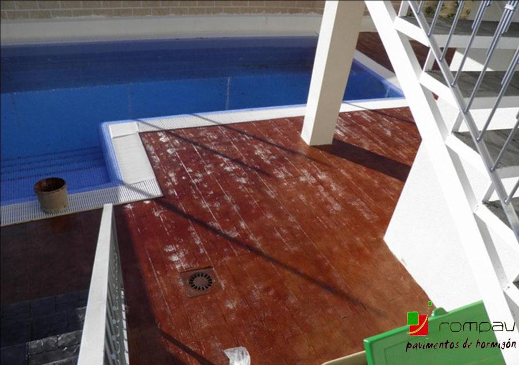 hormigon impreso piscinas boadilla del monte