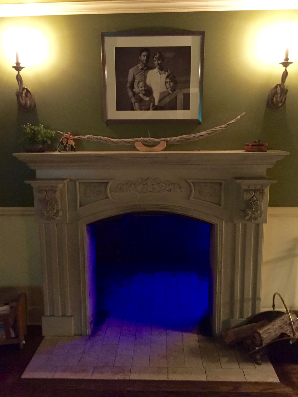 meow wolf house of eternal return fireplace