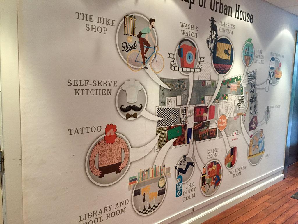 urban house interior map