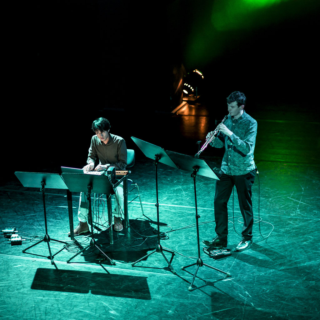grün, grün, grün... Benjamin Völkel, Oboe | Tamon Yashima, Elektronik | Foto: Michael Niesemann