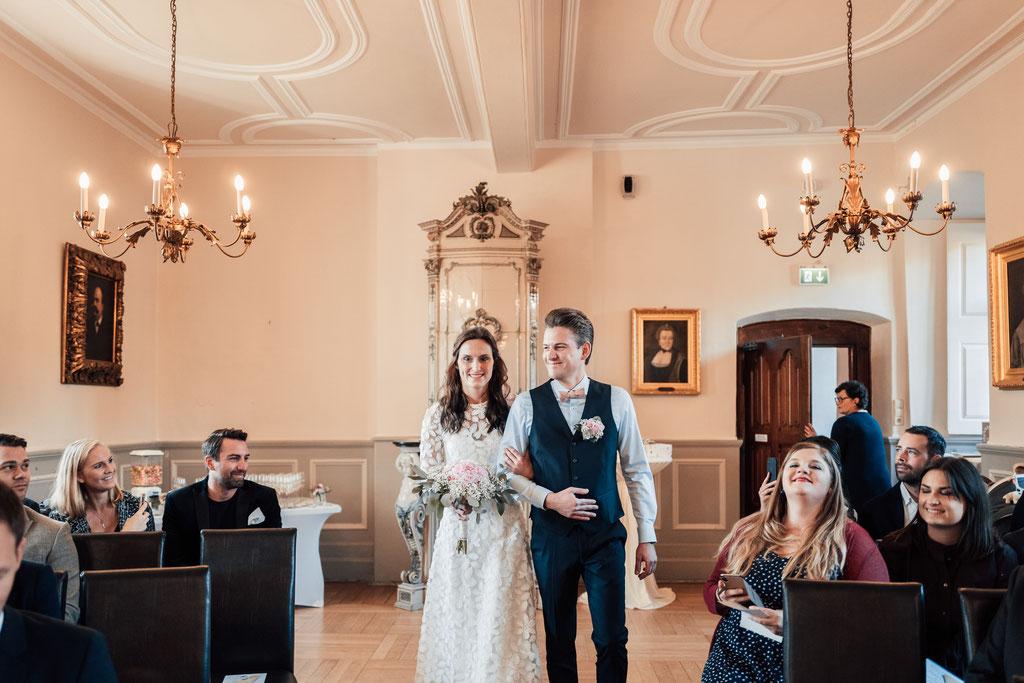 Hochzeitsfotografin Eltville, Einzug