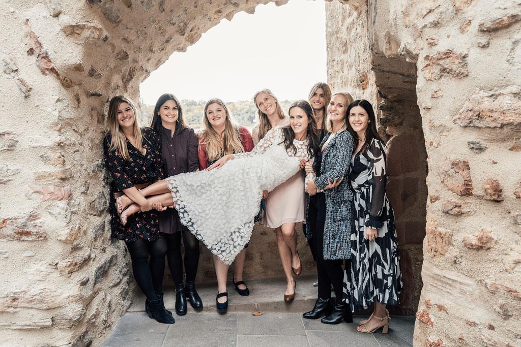 Hochzeitsfotografin Idstein, Brautjungfern