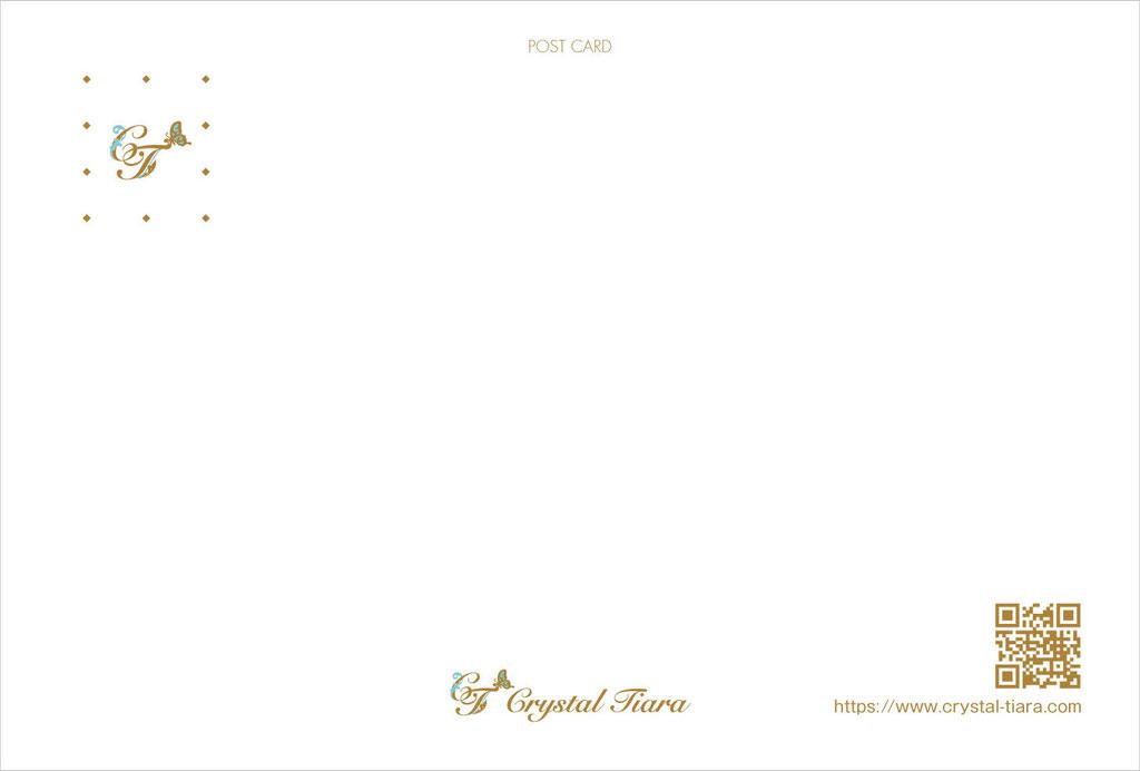 アパレル 女性用グッズ ブランド ハガキサイズショップカード 宛名面 デザイン