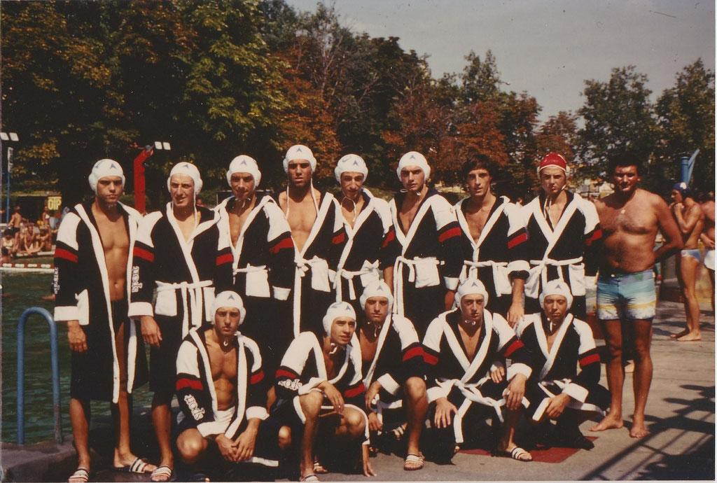 Equipe de France Junior 1981/1982 à Budapest Hongrie: Les 4 Marseillais ; F.Mireur, Michel Crousillat,Jim Martin, P.O Delange,