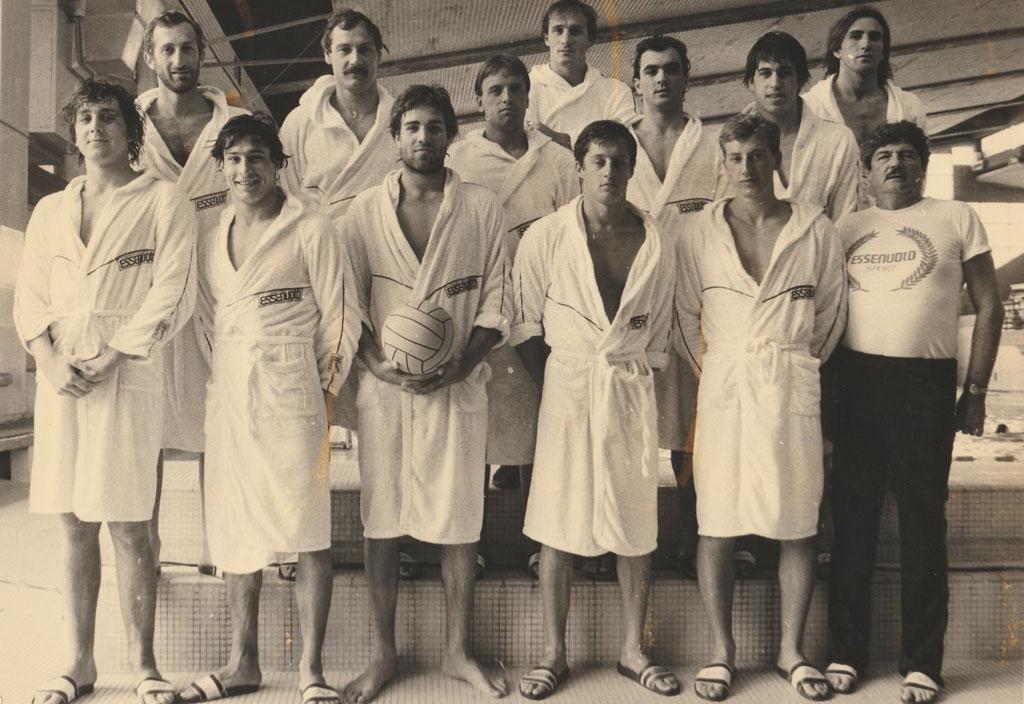 Champion de France 1982: N.Geleff,A.Mikaelian,M.Crousillat,M.Idoux,F.Mireur, P.O Delange,Ivan Augusto,M.Crousillat,Ph.Pariente, Jim.Martin, Pierre Garseau,E.Lefert,M.Sneider