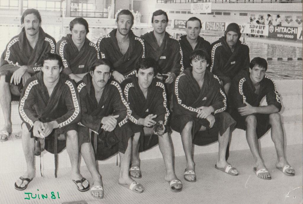 Equipe du CNM qui affronte Montmartre le 6 juin 1981: M.Idoux, M.Crousillat,A.Mikaelian,P.Pariente,P.O Delange, Luc Morel, M.Crousillat, E.Lefert,G.Mari,S.Vian,J.Vendassi