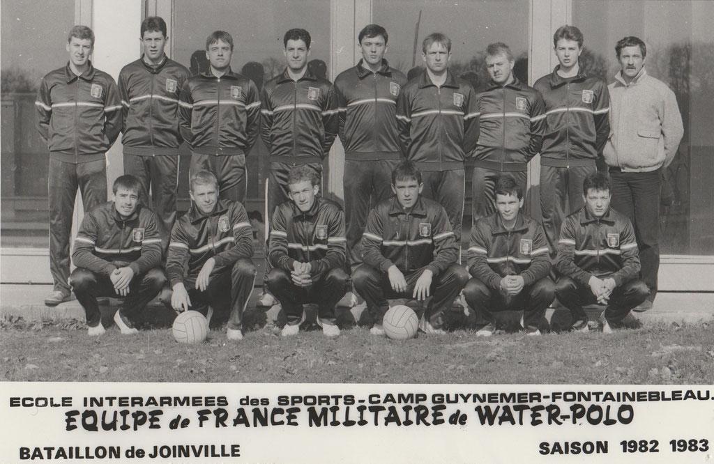Equipe de France militaire(1982/1983) les 3 marseillais côte à côte dans la sélection : Jim Martin,B.Wojjala,P.O Delange.