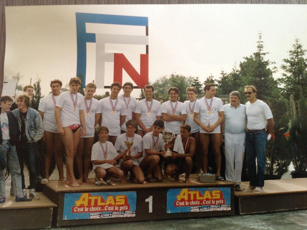 Equipe Championne de France juniors 1988