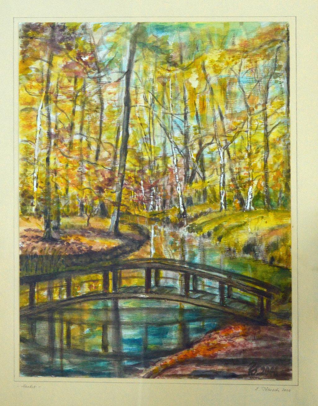 Herbst I-Aquarell 2017-30x40 cm-70 €