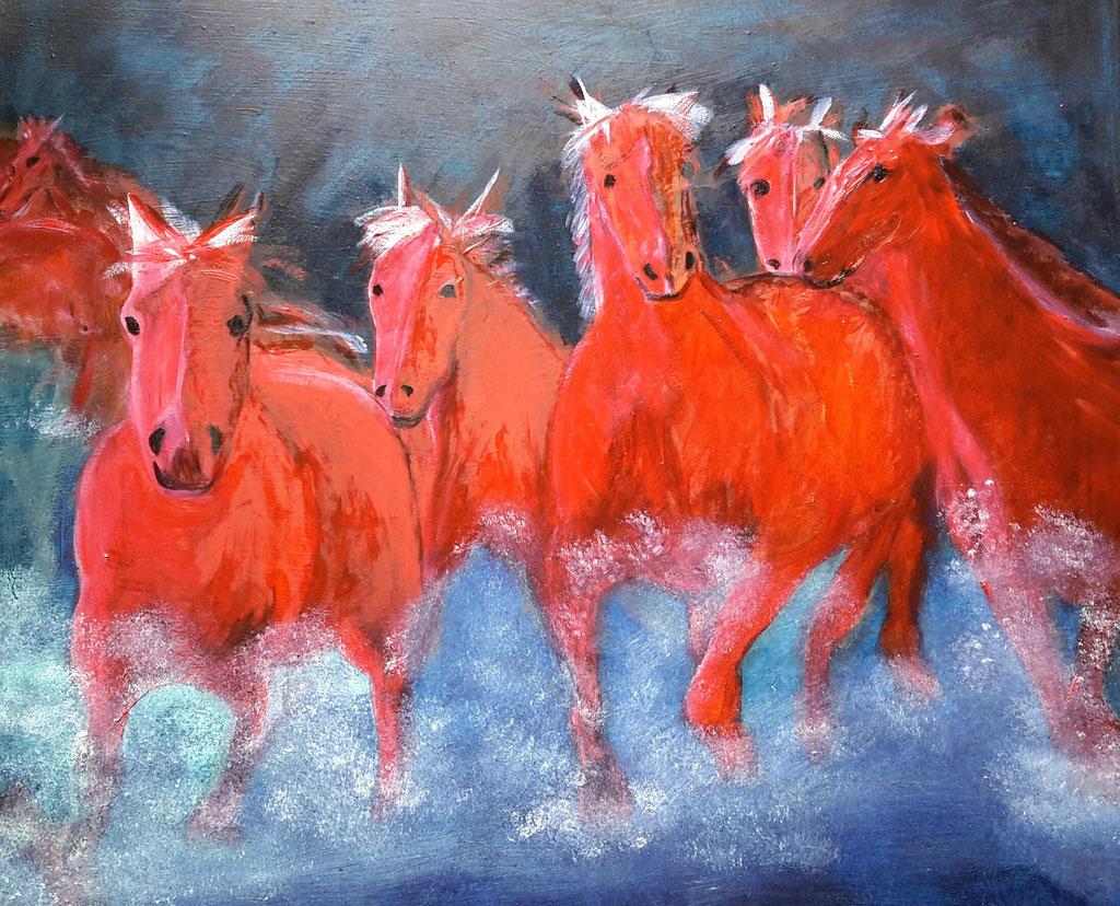 Pferde-Öl 2016-83x72 cm-190 €