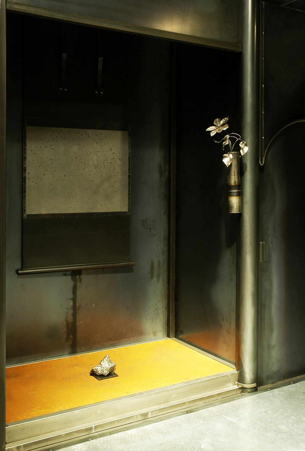 鉄茶室徹亭、床の間