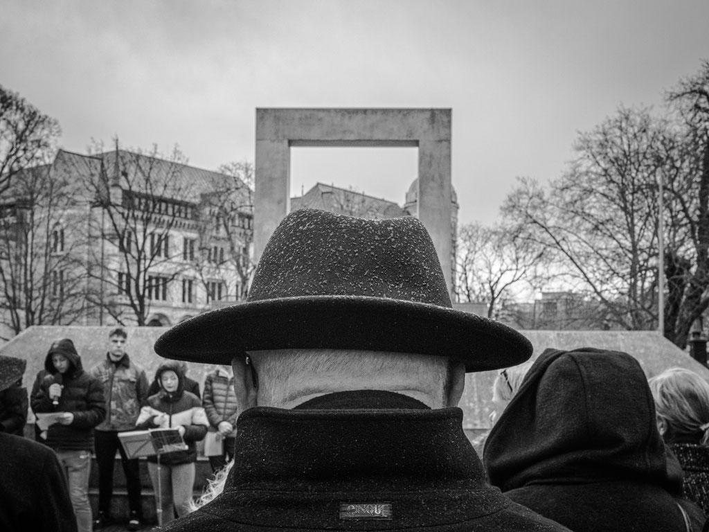 26.02.2020 Gedenkstunde am Holocaust-Mahnmal. Vor 75 Jahren gab es die letzte Deportation in das Ghetto Theresienstadt