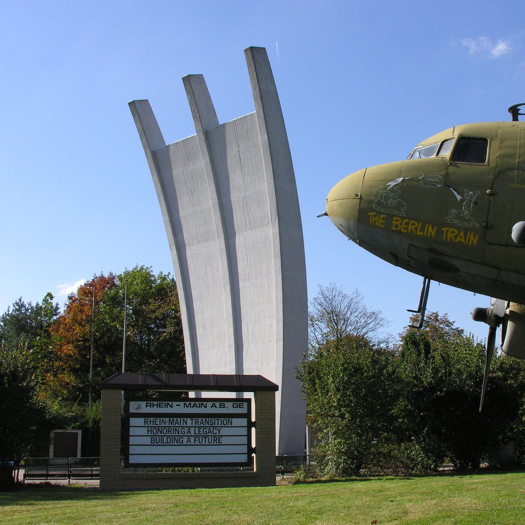 Frankfurt Airlift Monument (1985) by Eduard Ludwig  Frankfurt Airport Frankfurt Germany