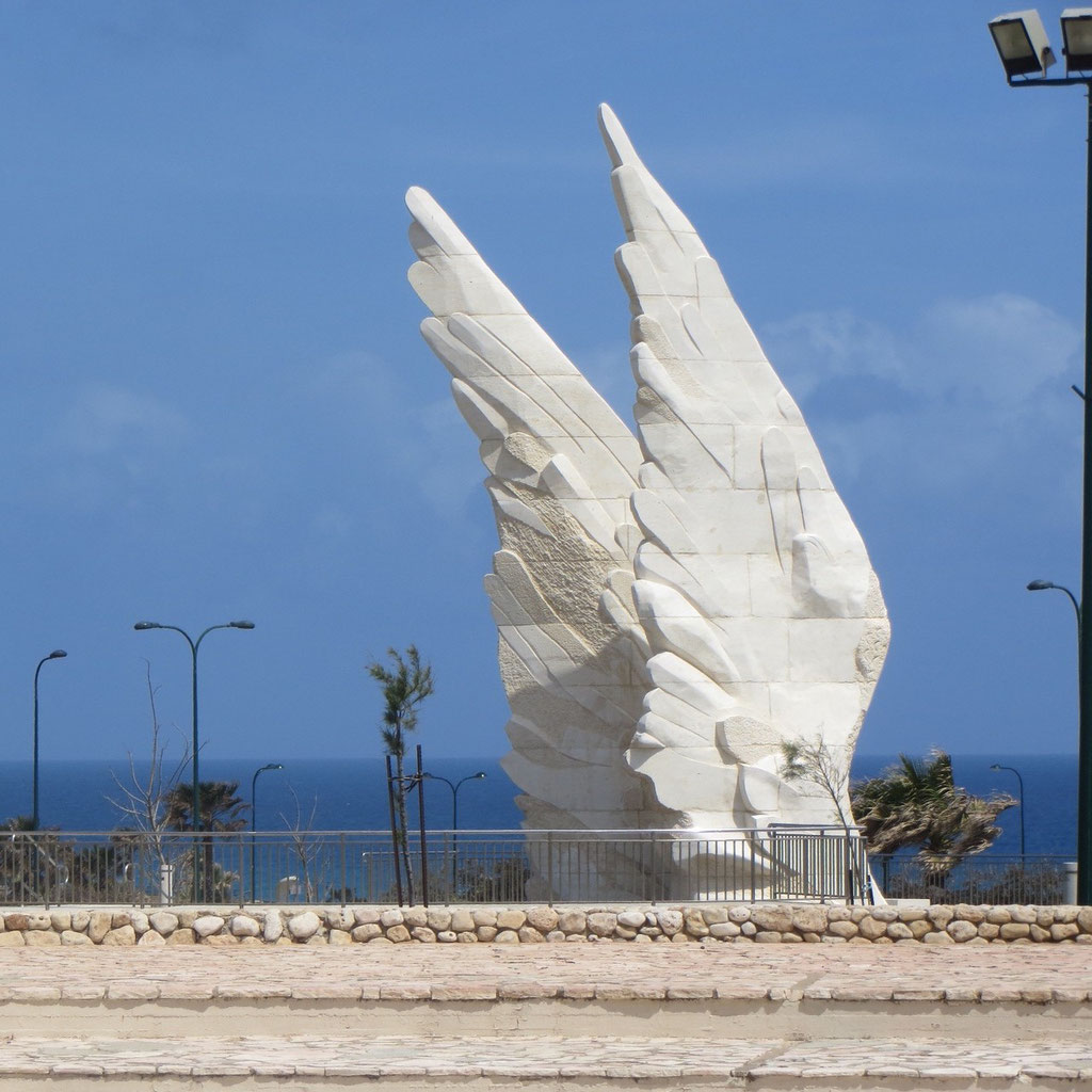 Victory monument (2012) marking the victory of the Red Army over Nazi Germany by Chen Vinkler Ben Gurion Street Netanya Israel