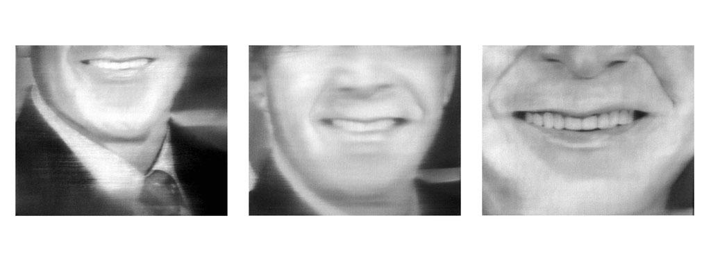 smile of G.W. Bush 01-03, 2003, Oil on Canvas, a 24 x 30 cm