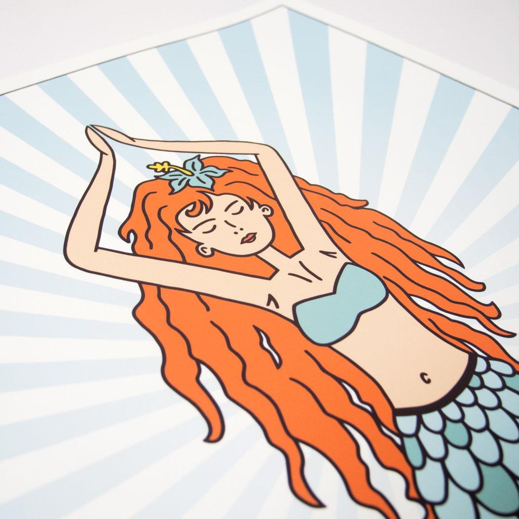 Fineart Print 'Silence' - Meerjungfrau