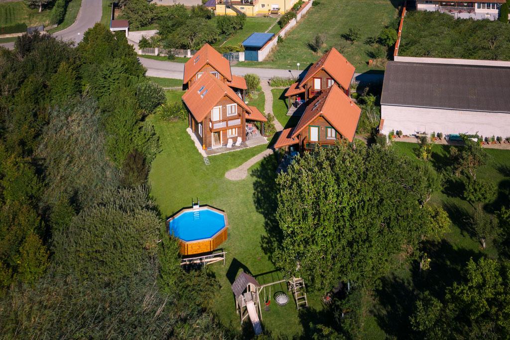 Luftaufnahmen Ferienhäuser Aura, Copyright CityCopterCam