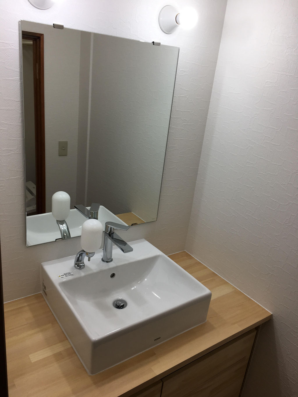 手洗い器取付