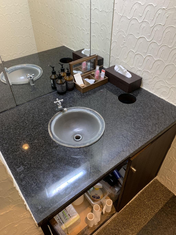 手洗いカウンター 造作前