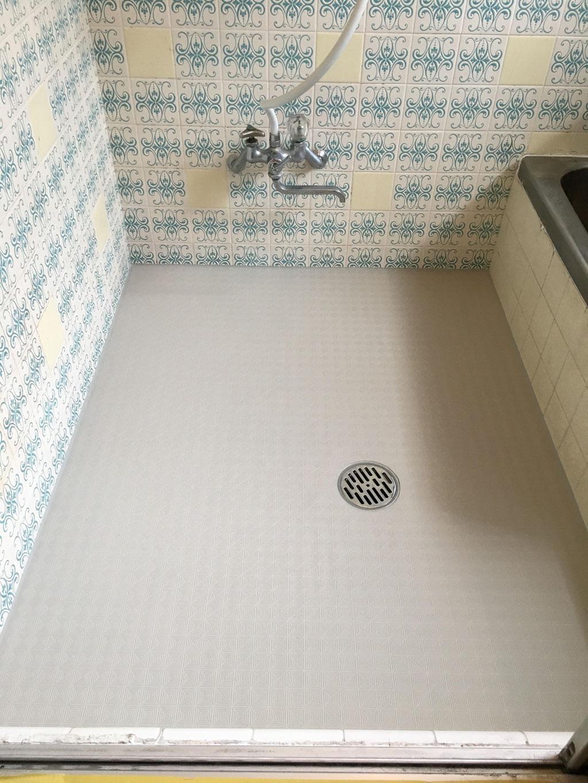 浴室タイル床 工事後