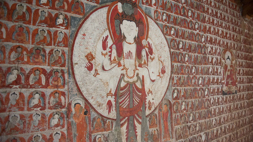 Jahrhundertealte Wandmalereien in Ladakh
