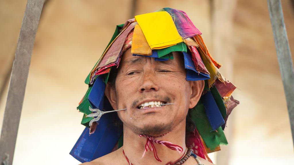 Butschen, buddhistischer Wandermönch aus dem Pin-Tal in Spiti
