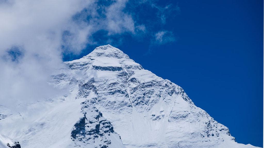 Mount Everest von Tibet her gesehen