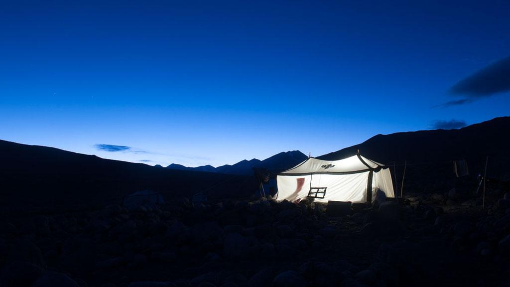 Nomadenzelt auf dem tibetischen Hochplateau