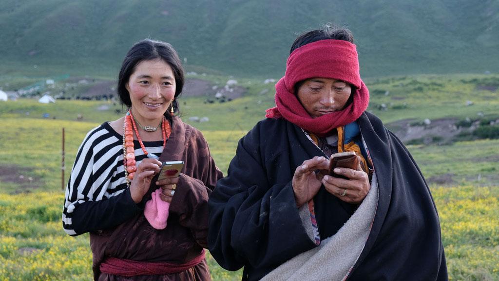 Die Moderne hat Einzug gehalten bei den Nomaden in Amdo