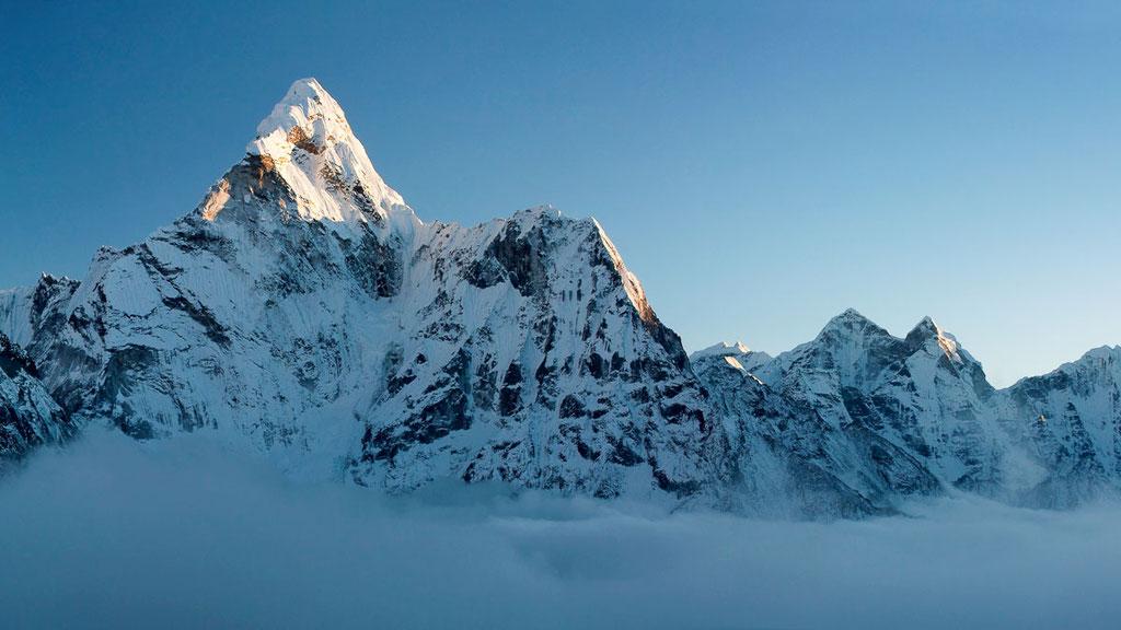 Ama Dablam in der Region Khumbu in Nepal
