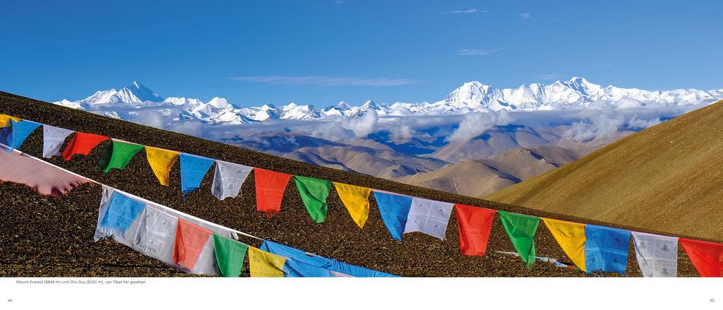 Himalaya Bildband, Tibet, Blick vom Pang La auf den Mounteverest