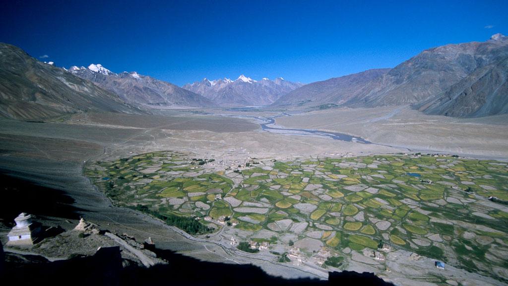 Blick vom Kloster Stongde über das Zanskar-Tal