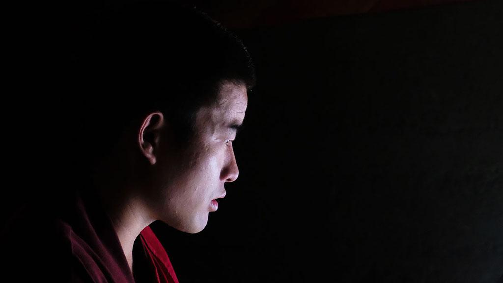 Buddhistischer Mönche im Dege Parkhang in Kham