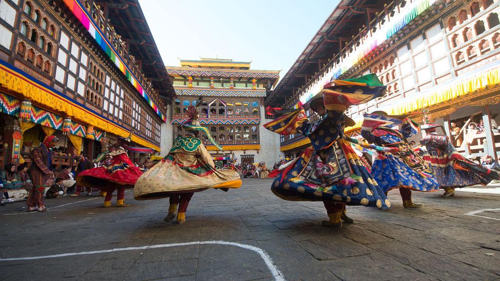 Klosterfest in Trashigang im Osten von Bhutan