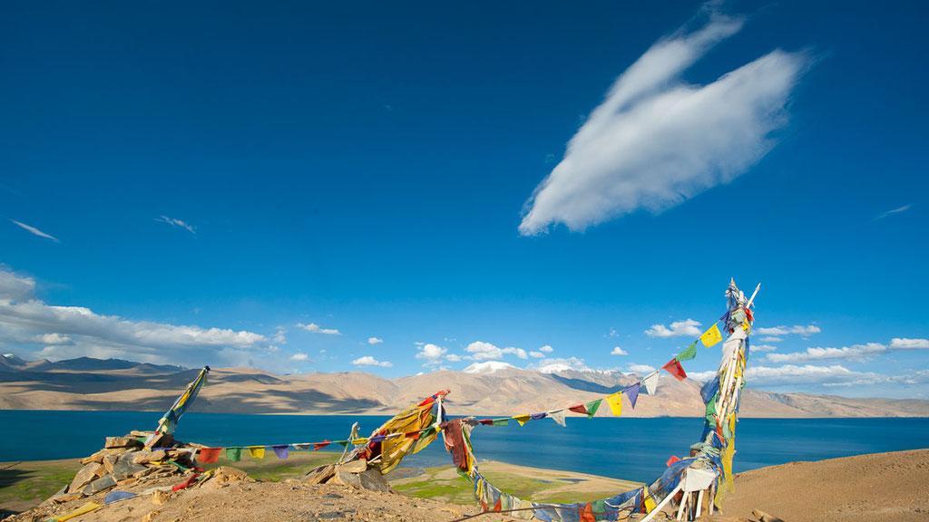 See Tsomoriri auf 4500 Metern Höhe im Osten von Ladakh