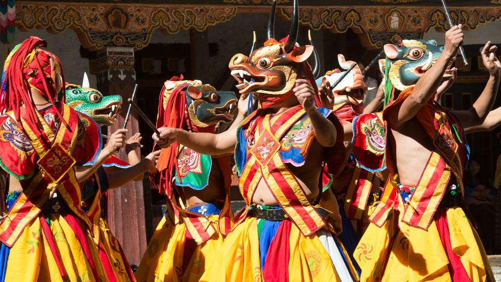 Maskentänze in Bhutan