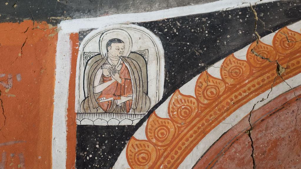 Buddhistische Wandmalerei in Nepal