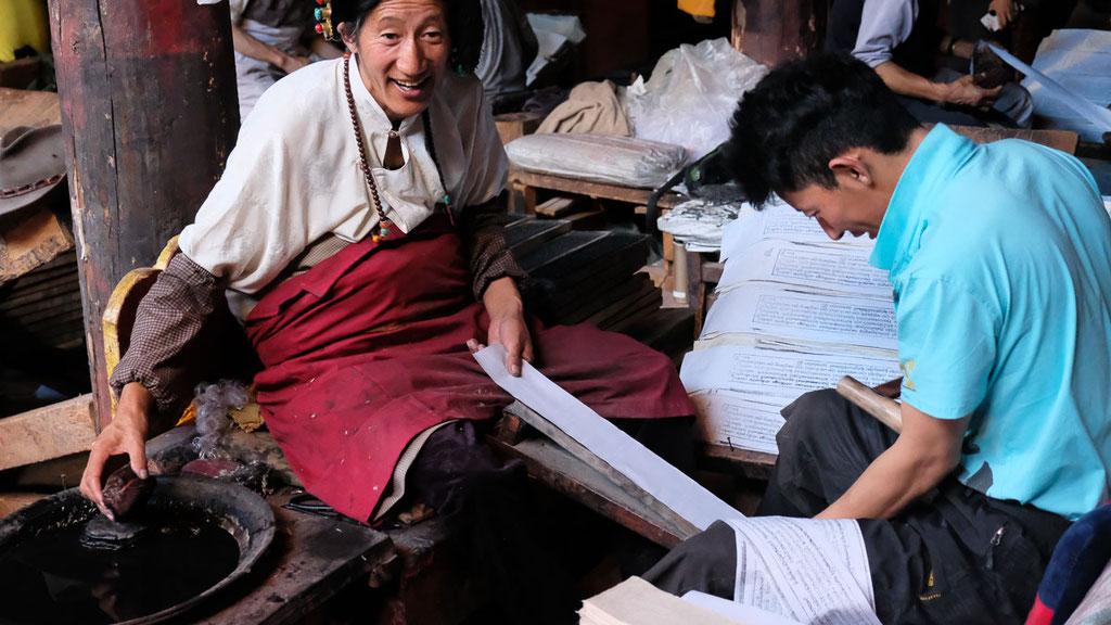 Alte Buchdruckerei Dege Parkhang in Kham