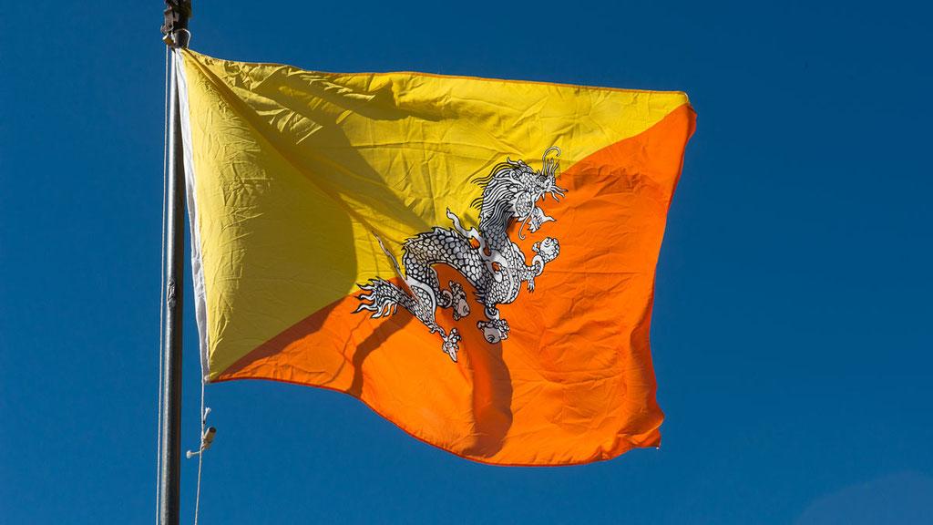 Landesflagge von Bhutan