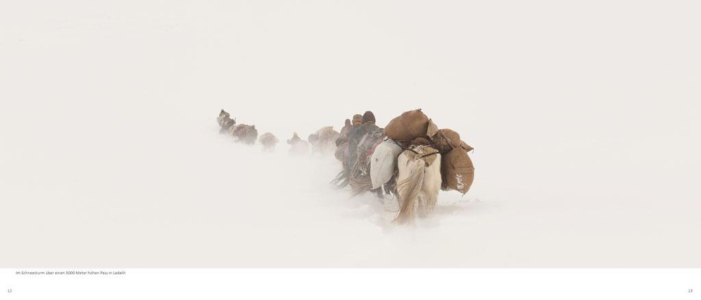 Himalaya Bildband, Ladakh, Nomaden im Schneesturm